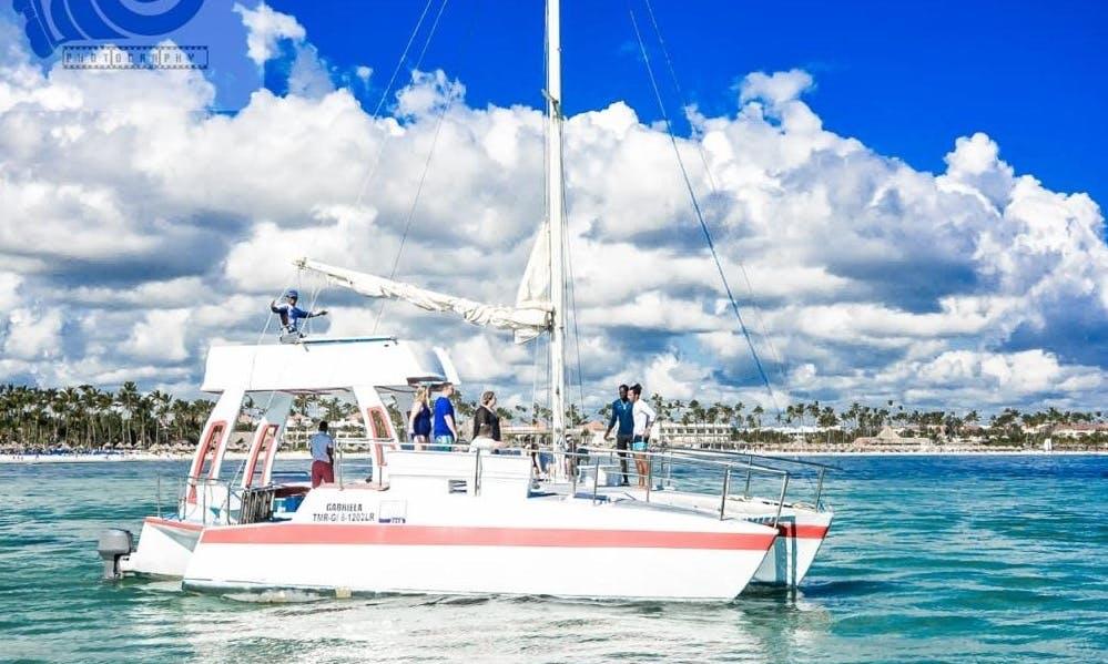 3 Hours Cruising Catamaran Cruises for 45 People in Punta Cana