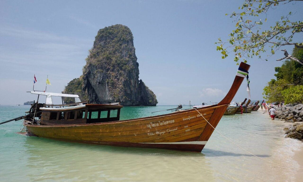Thai Custom Built Boat Rental for 10 People in Tambon Ao Nang, Thailand