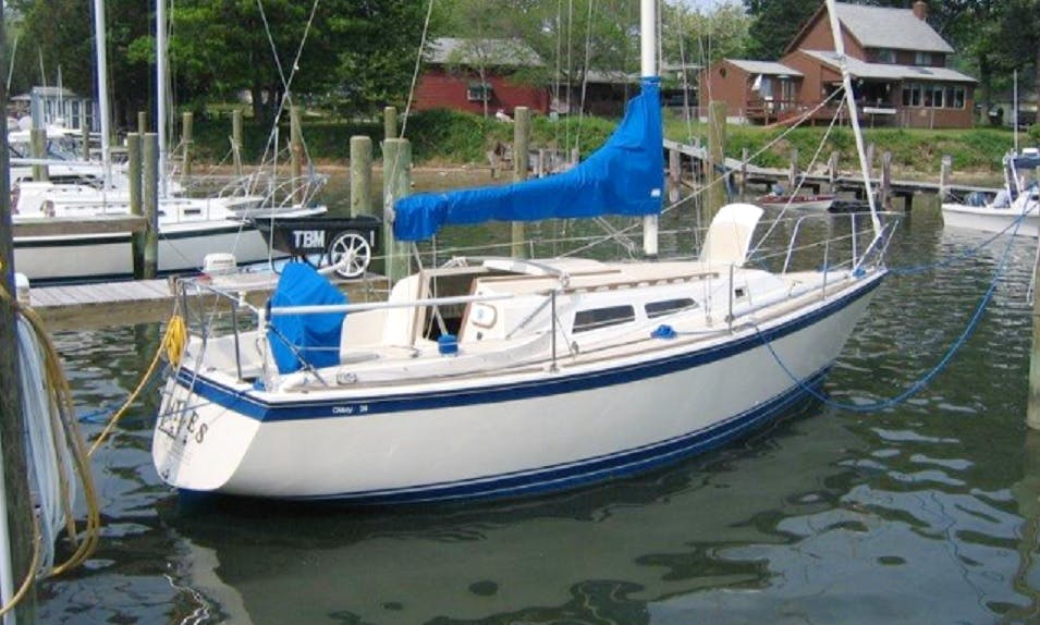 28 ft O'day Sloop Rental for 5 People in Portsmouth, Virginia