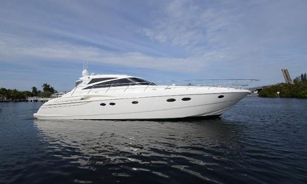 Charter this 2200 HP Princess V58 Motor Yacht for 12 People in Miami Beach, Florida