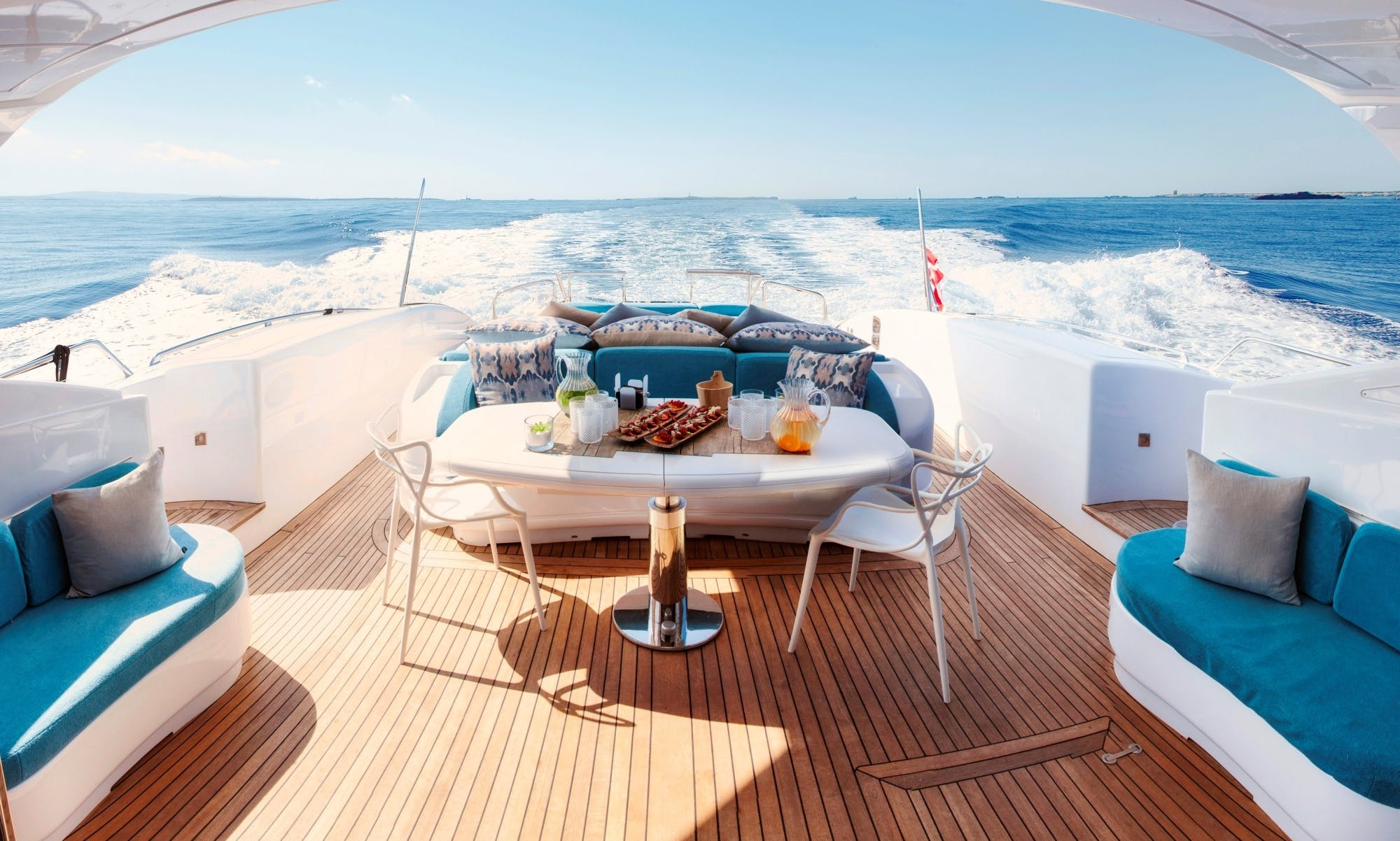 2600 hp Mangusta 108 Mega Yacht Charter for 11 Guests in Ibiza, Spain
