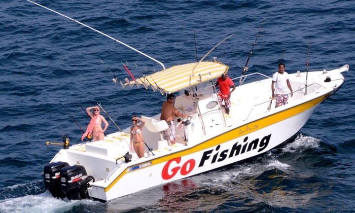Deep Sea Fishing Onboard a 34 ft Center Console for Up to 8 People in Fujairah, UAE